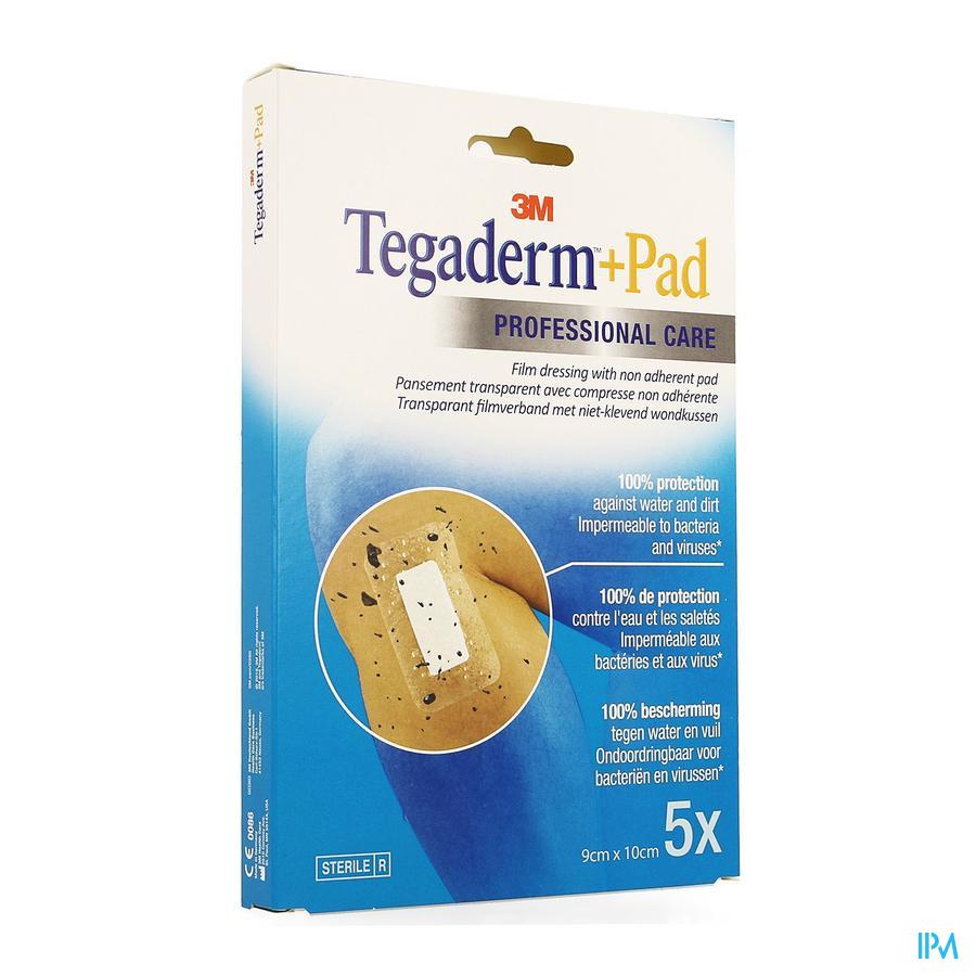 Tegaderm + Pad  Transparant  9cm x 10cm (5 stuks)