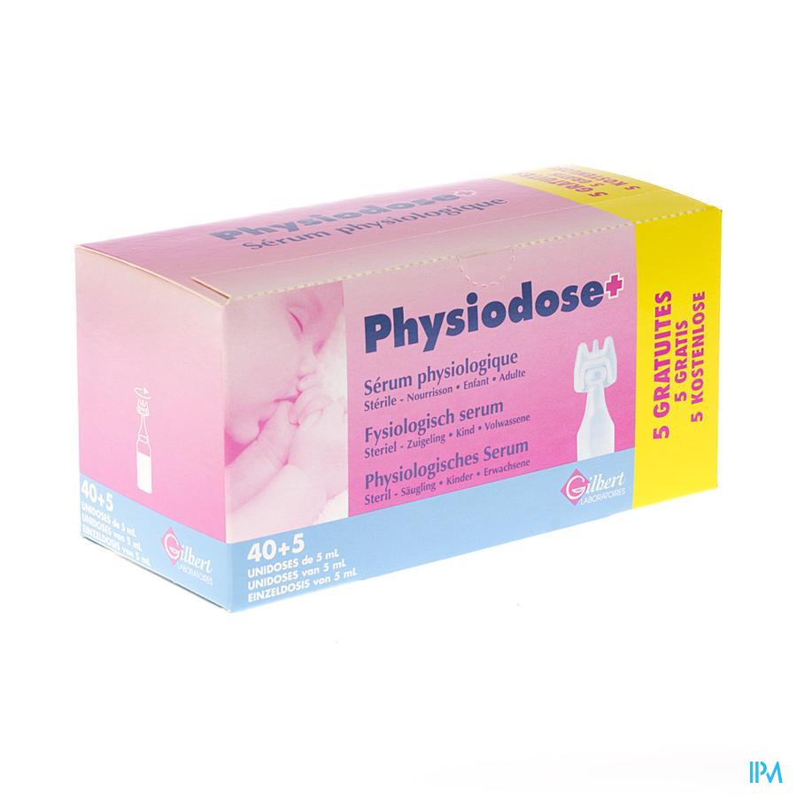 Fysiologisch serum unidosis 40x5ml + 5 gratis