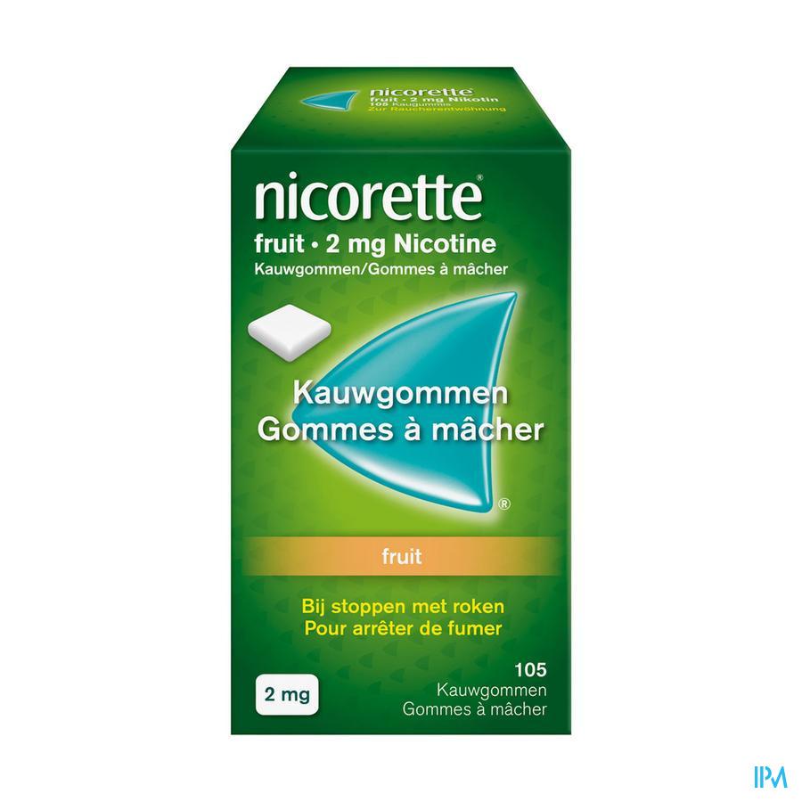 Nicorette kauwgom fruit  (2 mg)