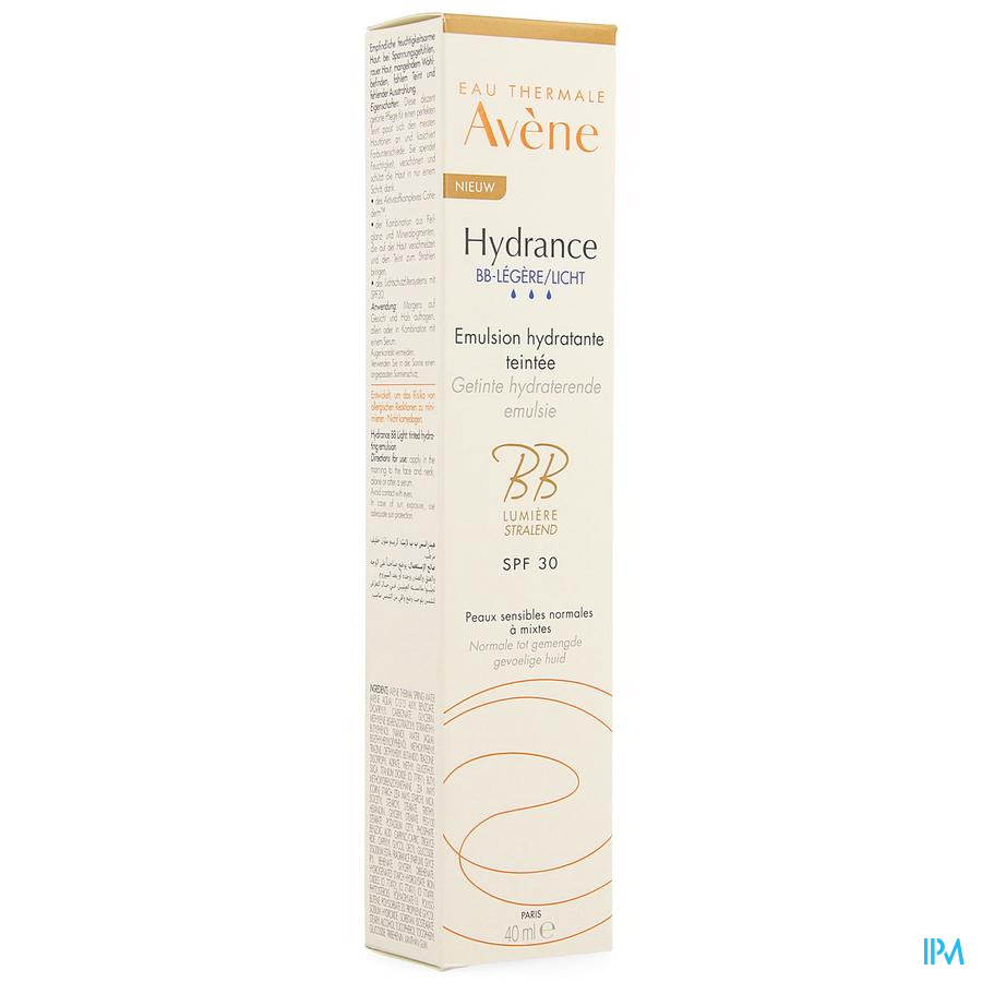 Avene Hydrance Hydraterend, perfecte teint, lichte creme 40 ml