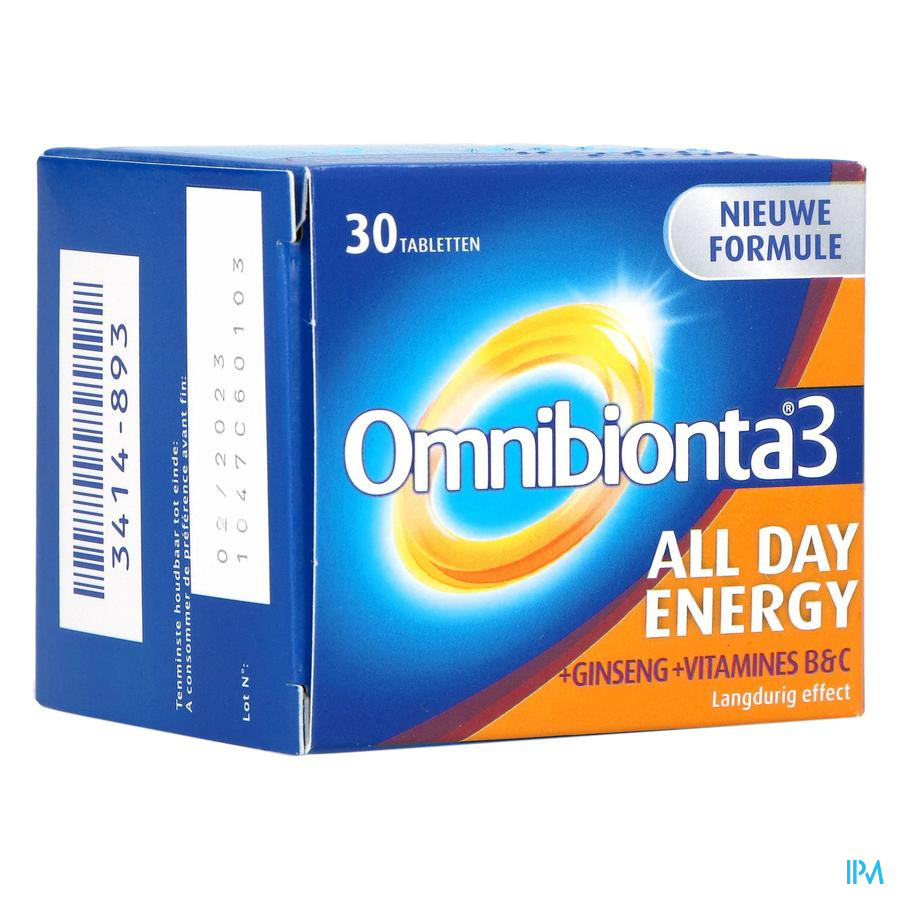 Omnibionta-3 all day energy / 30 tabletten