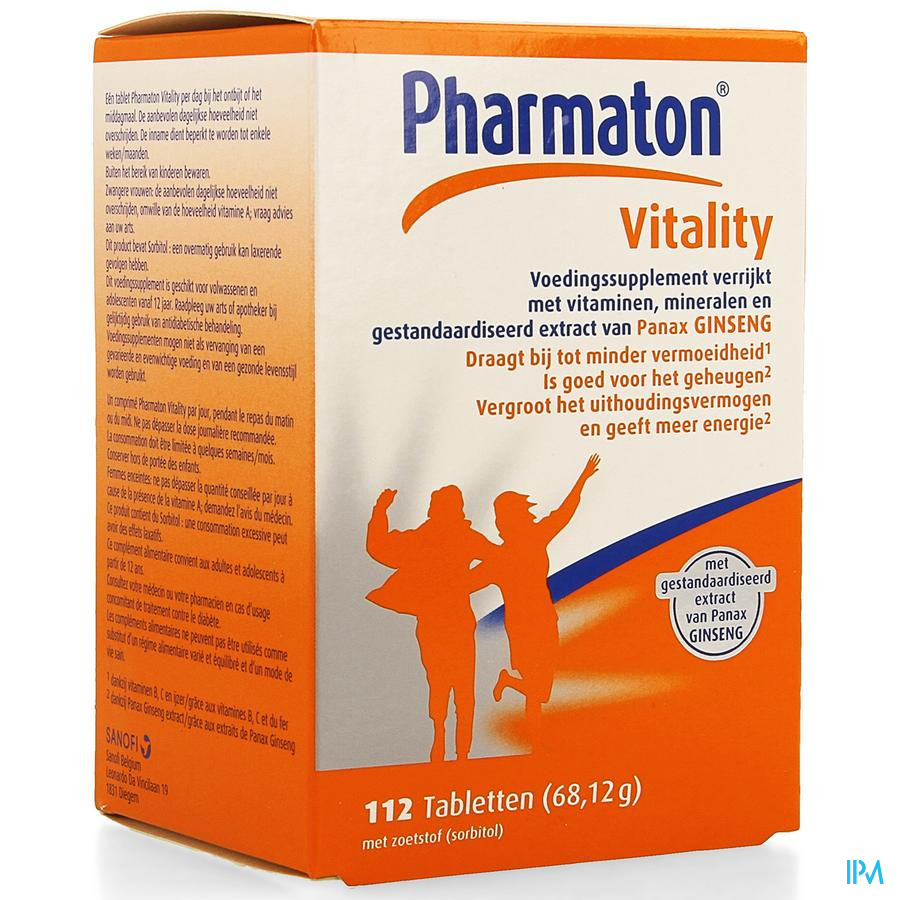 Pharmaton Vitality 112 tabletten