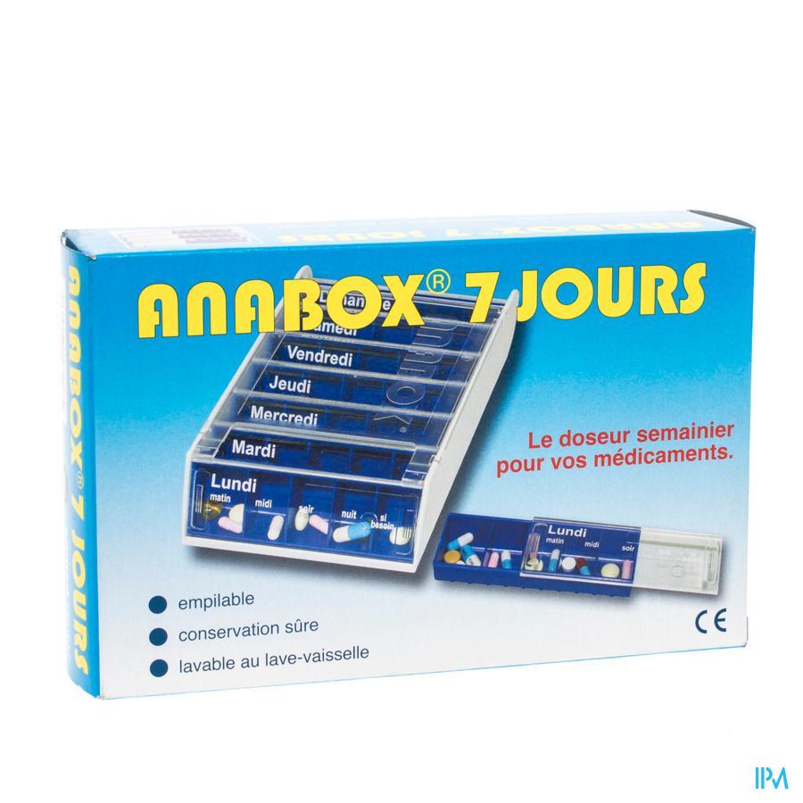 Pillendoos Anabox blue (7 jours)