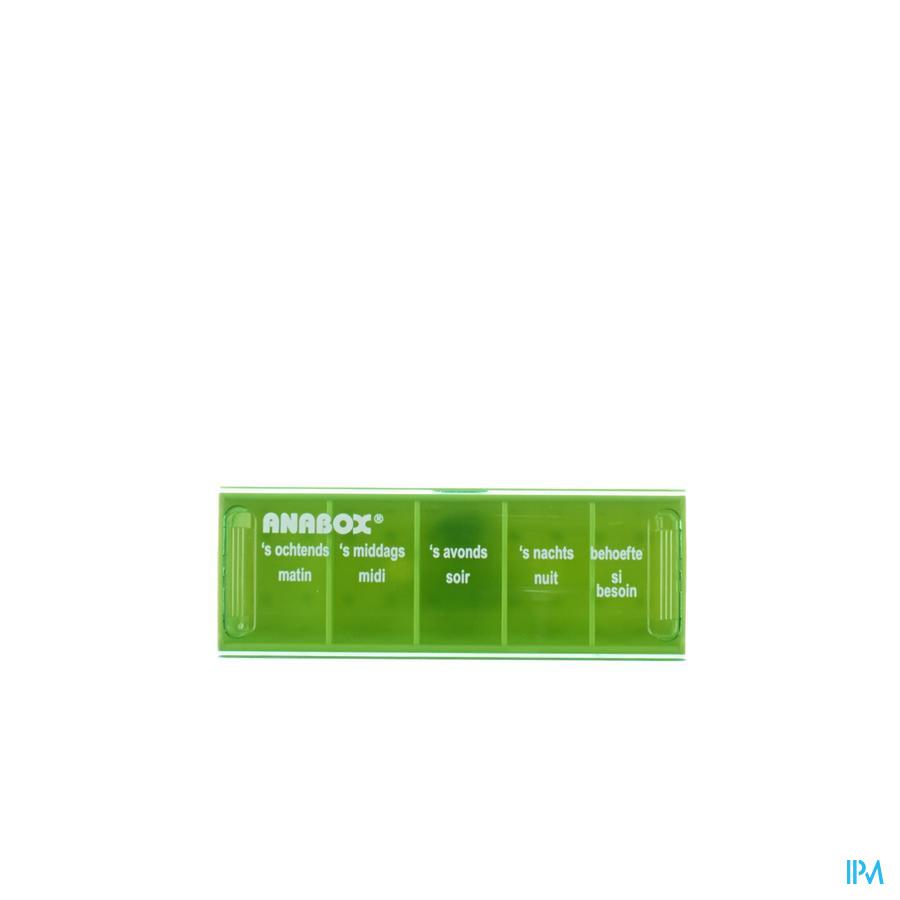 Pillendoos Anabox (1dag )met 5 vakken