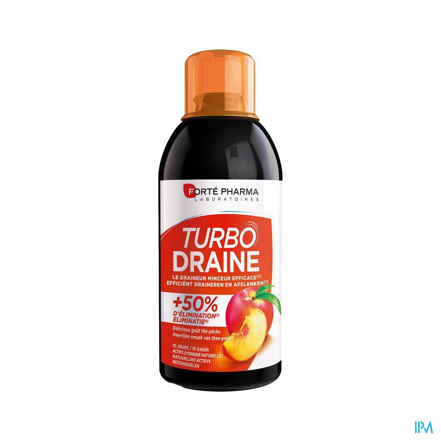 TurboDraine Groene thee Perzik / 500 ml