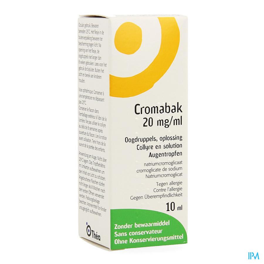 Cromabak 2% Oogdruppels