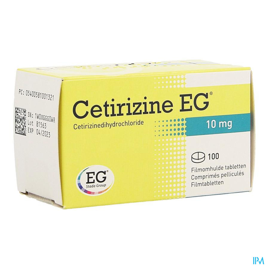 Cetirizine EG / 100 tabletten