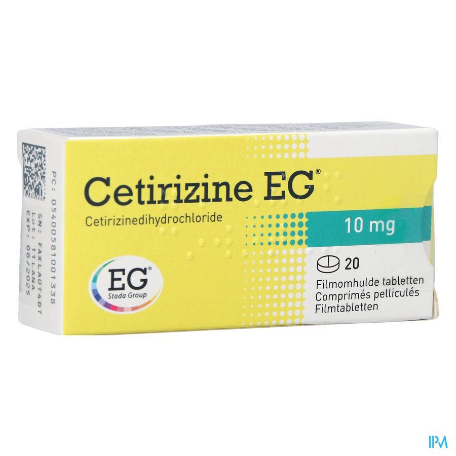 Cetirizine EG / 20 tabletten