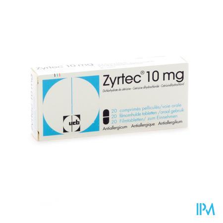 Zyrtec / 20 filmomhulde tabletten