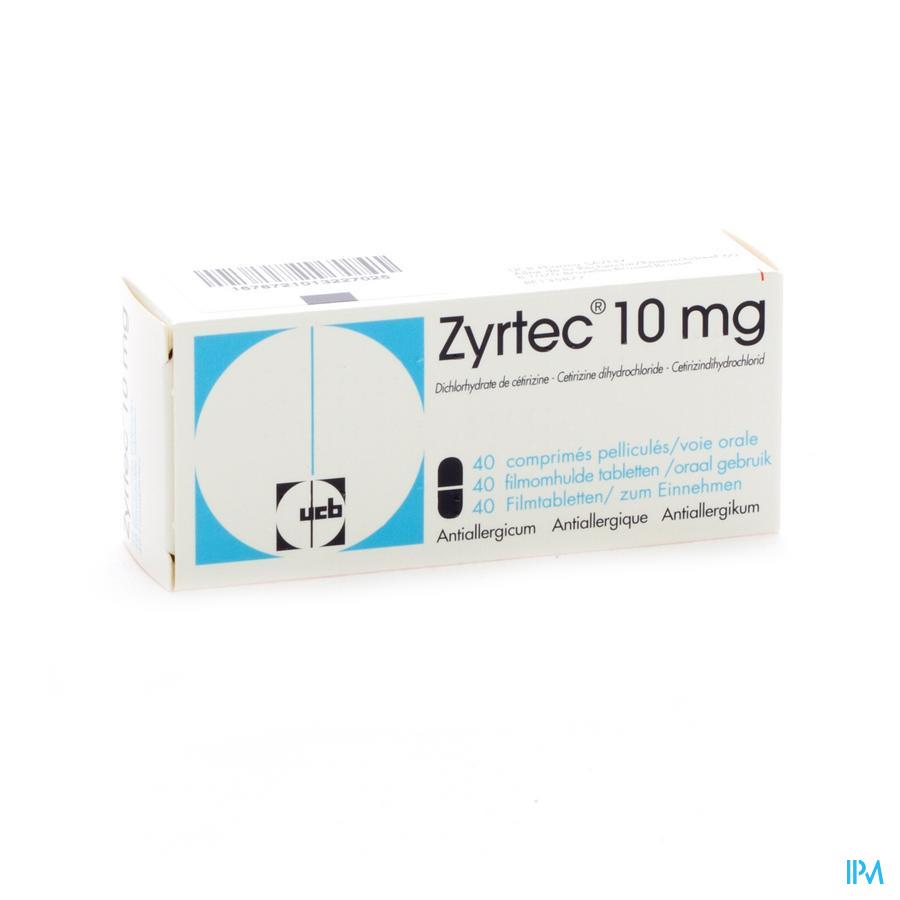 Zyrtec / 40 filmomhulde tabletten