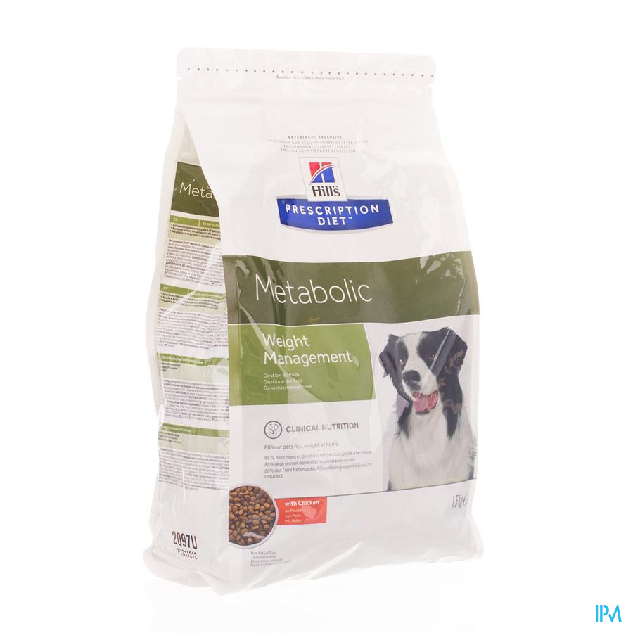 HILLS Hond Overgewicht Metabolic / 1,5 kg