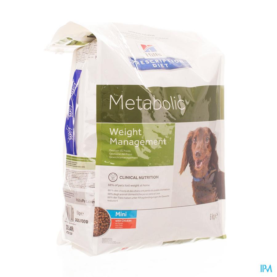 HILLS Hond Overgewicht Metabolic mini / 6 kg