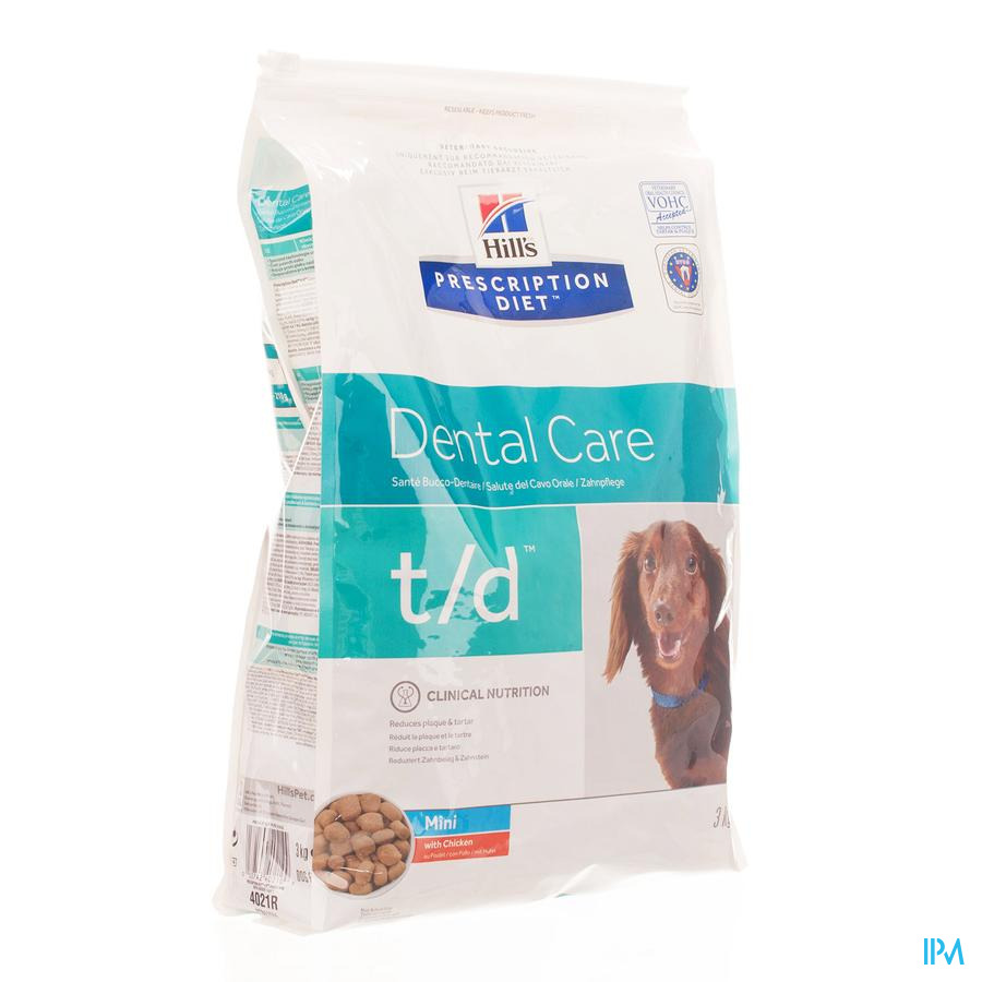 HILLS Hond Tand t/d / 3 kg