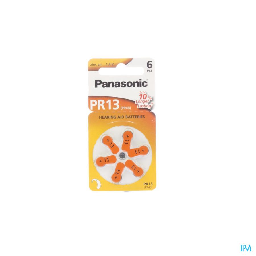 Oorbatterij voor hoorapparaat Panasonic PR13H 6 stuks
