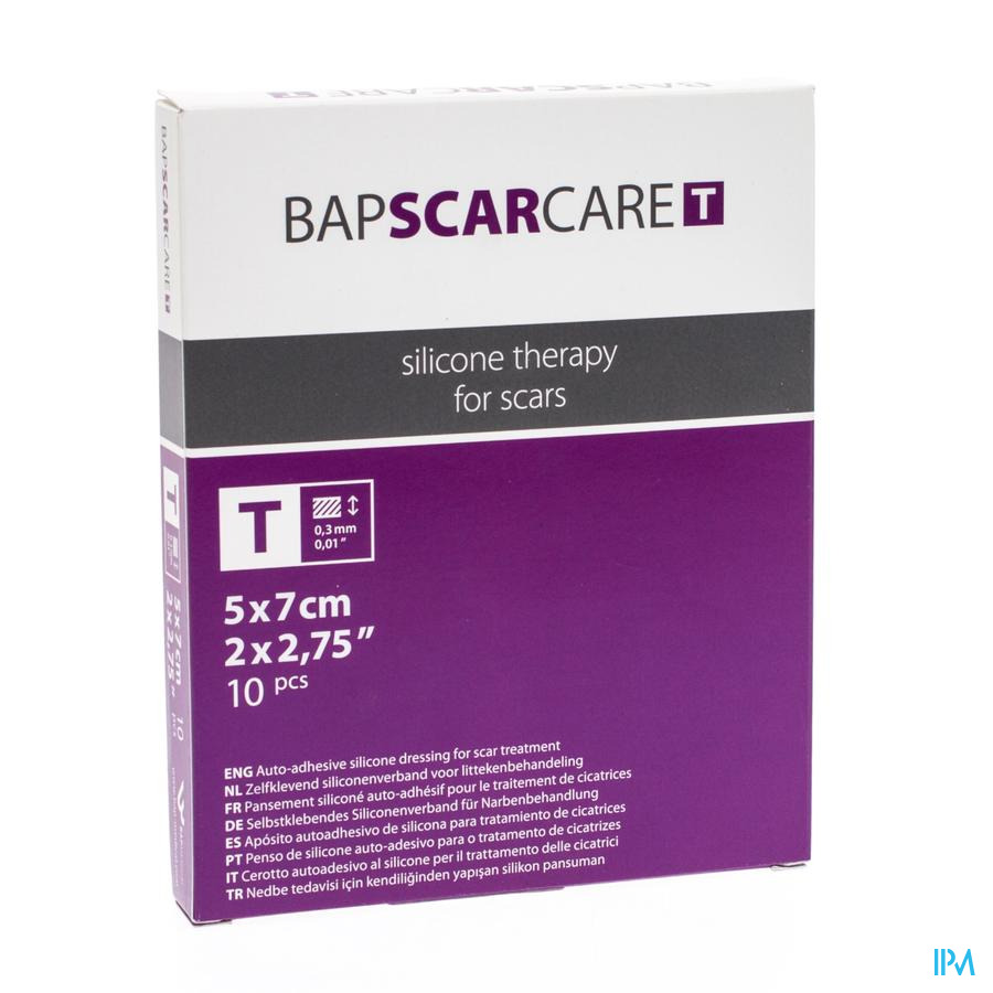BAP Scar Care T Dun Siliconenverband (5x7cm)
