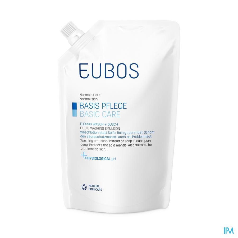 Eubos Vloeibare Zeep blauw / 400 ml navulling