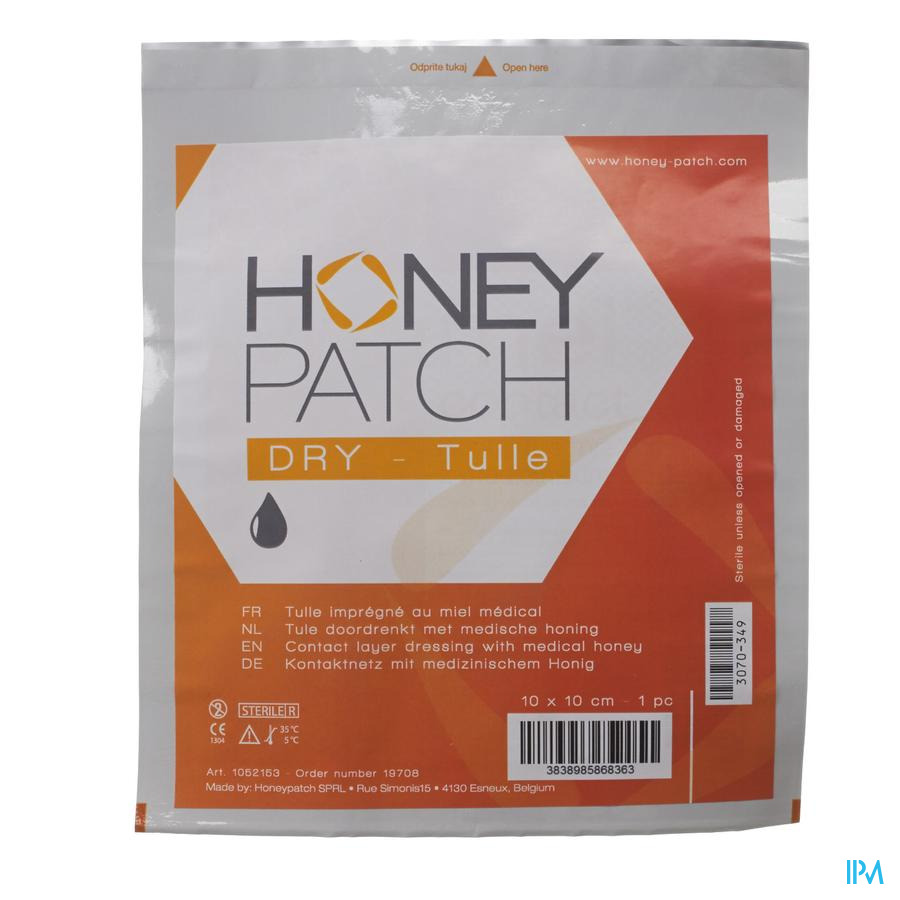 Honeypatch dry steriel 10x10cm