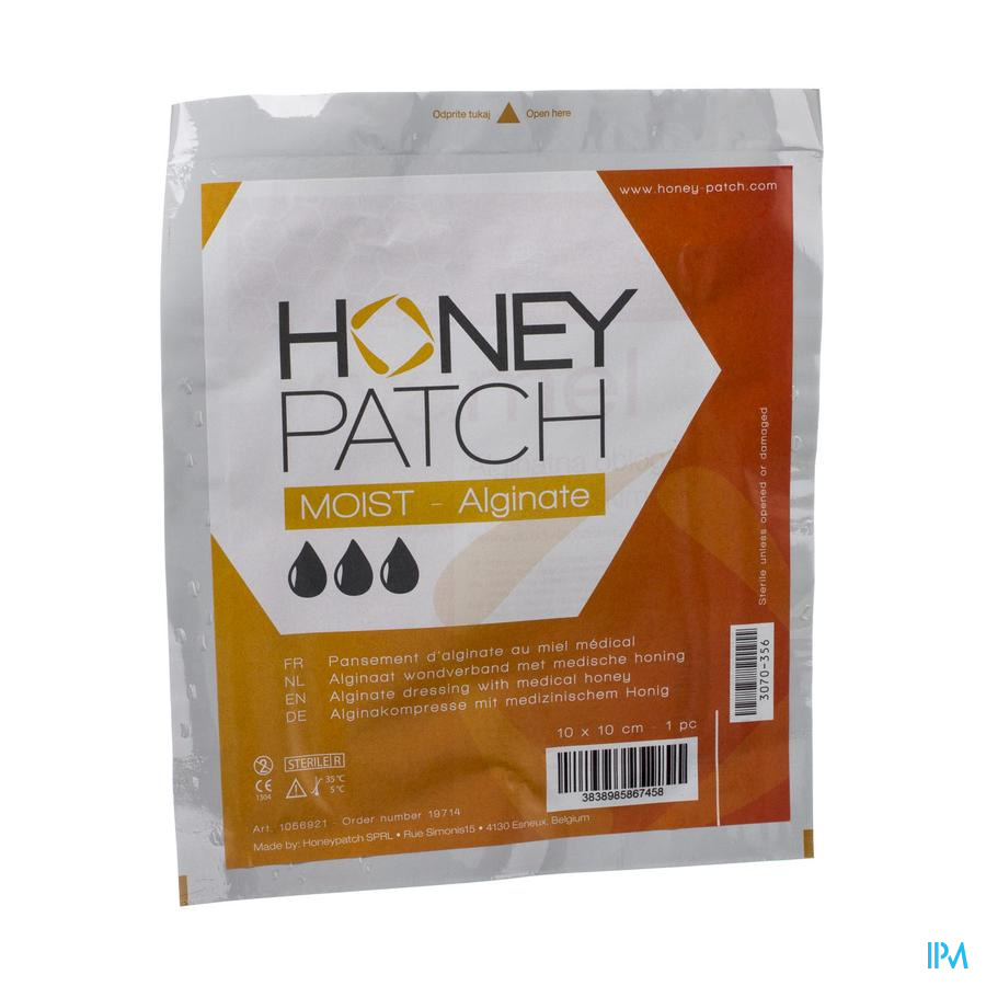 Honeypatch alginate 10x10cm