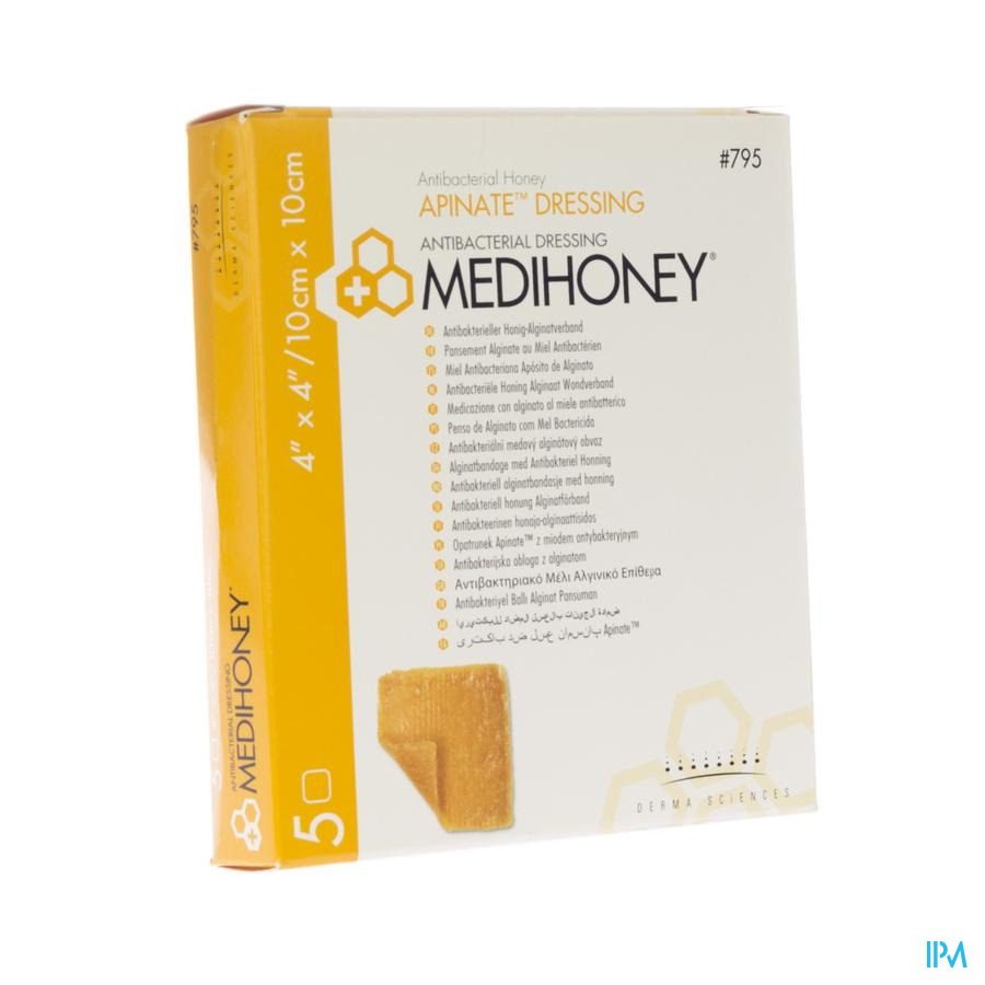 Medihoney wondverband alginaat 10x10cm