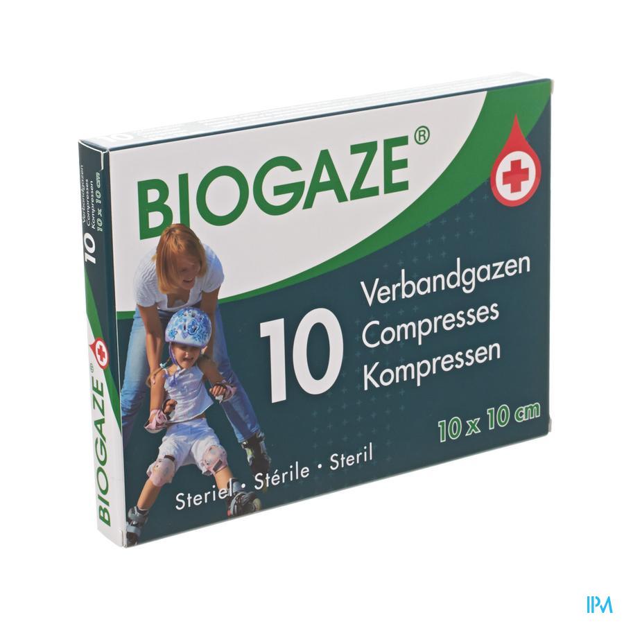 Biogaze verbandgazen 10 x 10 cm