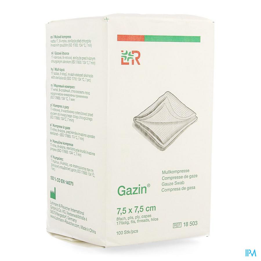 Gazin (7,5x7,5cm)  8lagen (100 stuks)