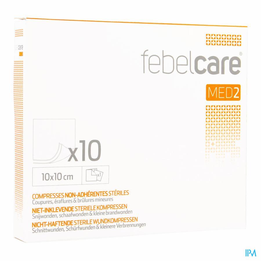 Febelcare niet-inklevend compres 10x10cm (10)