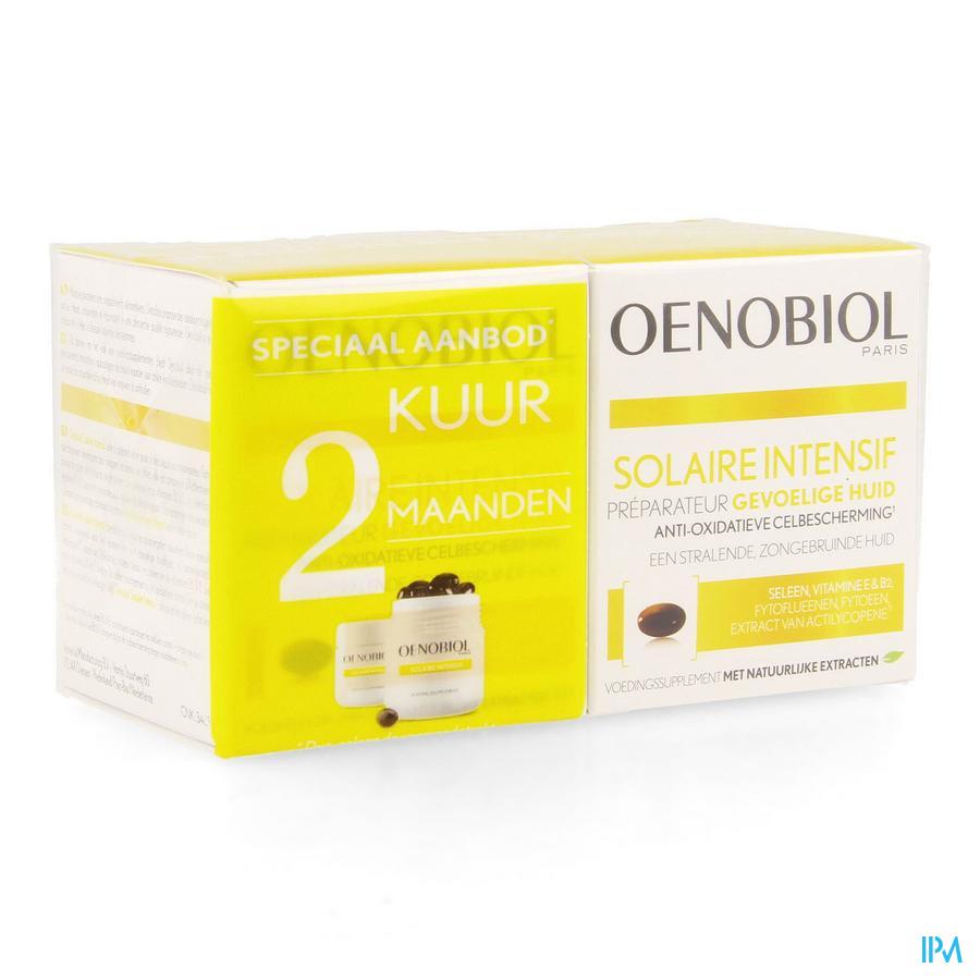 OENOBIOL Solaire Intensive Kuur Lichte huid  (2X30 Caps)