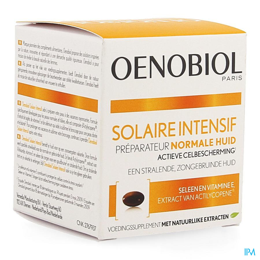 OENOBIOL Solaire Intensive Normale huid (30 Caps)