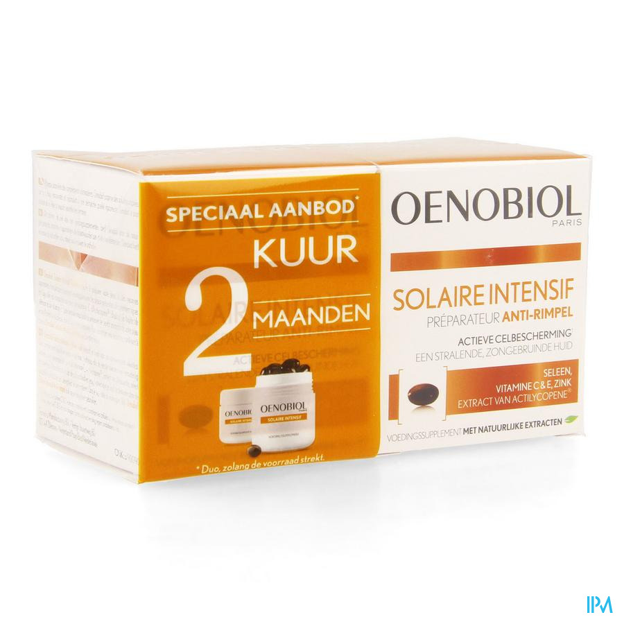 OENOBIOL Solaire Intensive Kuur Anti-rimpel ( 2x30 Caps)