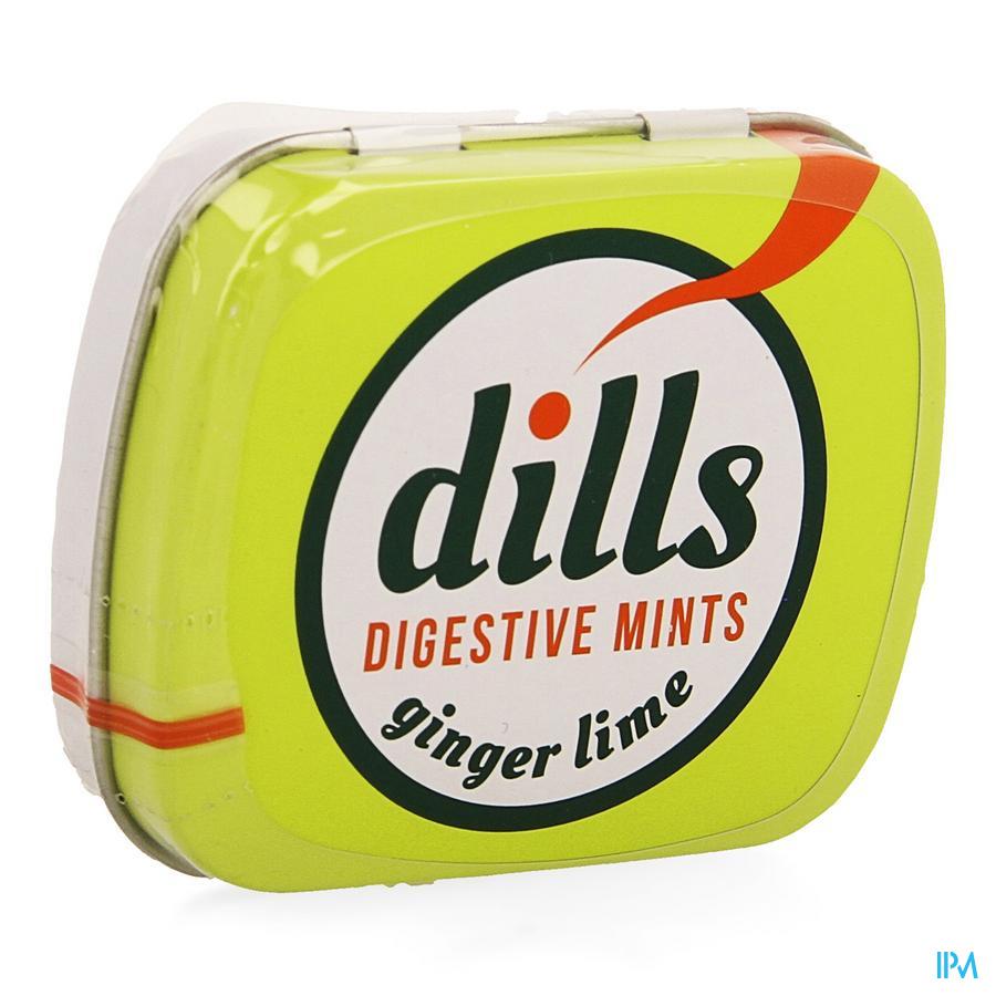 Dills Ginger & Lime Mints zonder suiker 15 g