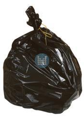 Vuilzak zwart op rol (25stuks) 82x95cm 100L