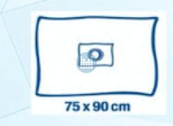 Gatdoek zelfklevend Foliodrape (ref 277510) 75x90cm opening diameter 7cm (40 stuks) 2delig