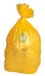 Zak geel op rol (25stuks) 70x110cm
