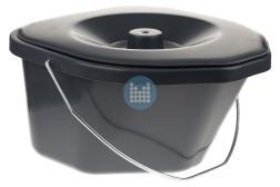Toiletemmer ovaal grijs voor toiletstoel