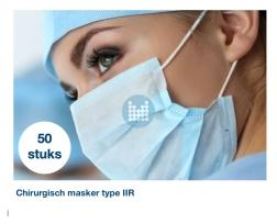 Mondmasker chirurgisch type IIR (  50 stuks)