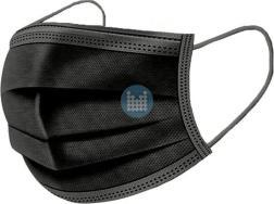Mondmasker chirurgisch type IIR  zwart (50 stuks)